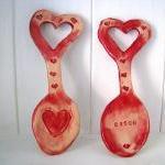 Heart ceramic Lovespoon. Handmade i..
