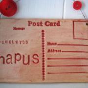 Penblwydd Hapus (happy birthday in welsh) - Handmade Ceramic postcard. Made in Wales, UK